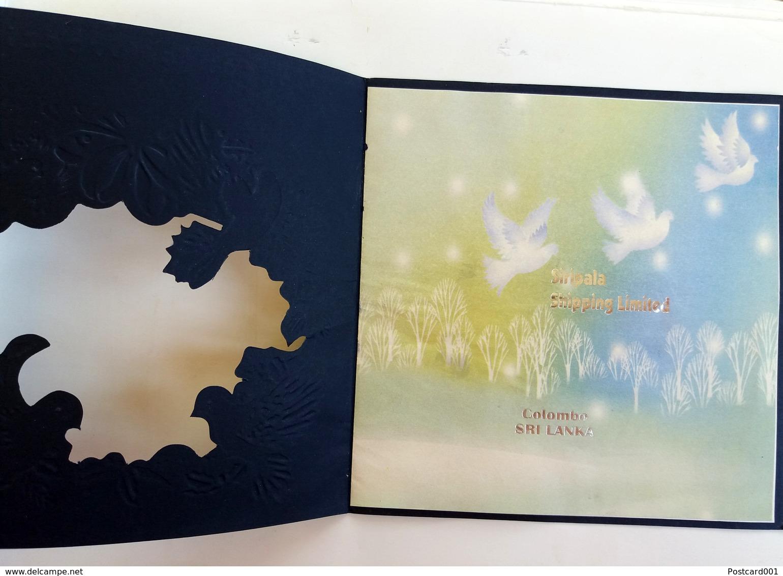 #12   Luxury Greeting  PostCard - Sri Lanka Colombo Big Size Postcard - Silhouettes