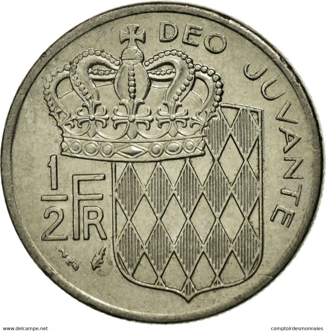 Monnaie, Monaco, Rainier III, 1/2 Franc, 1976, TTB, Nickel, Gadoury:MC 149 - 1960-2001 Nouveaux Francs