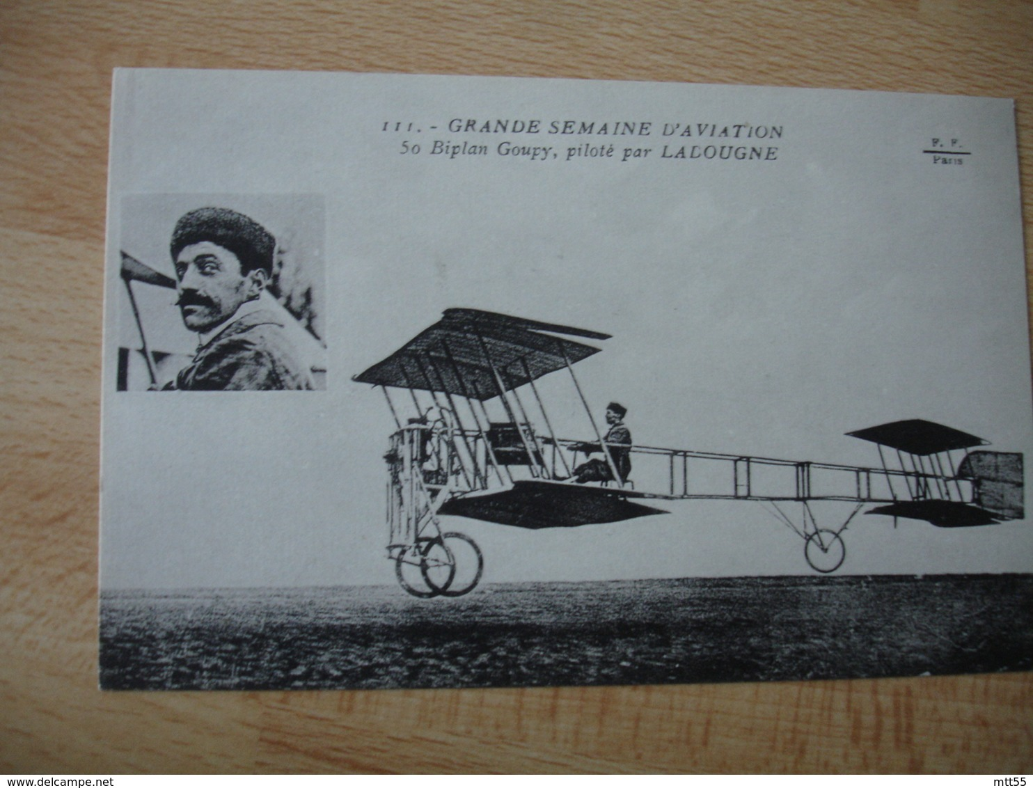 Aviation  Ladougne Biplan Goupy Aviateur - Aviateurs