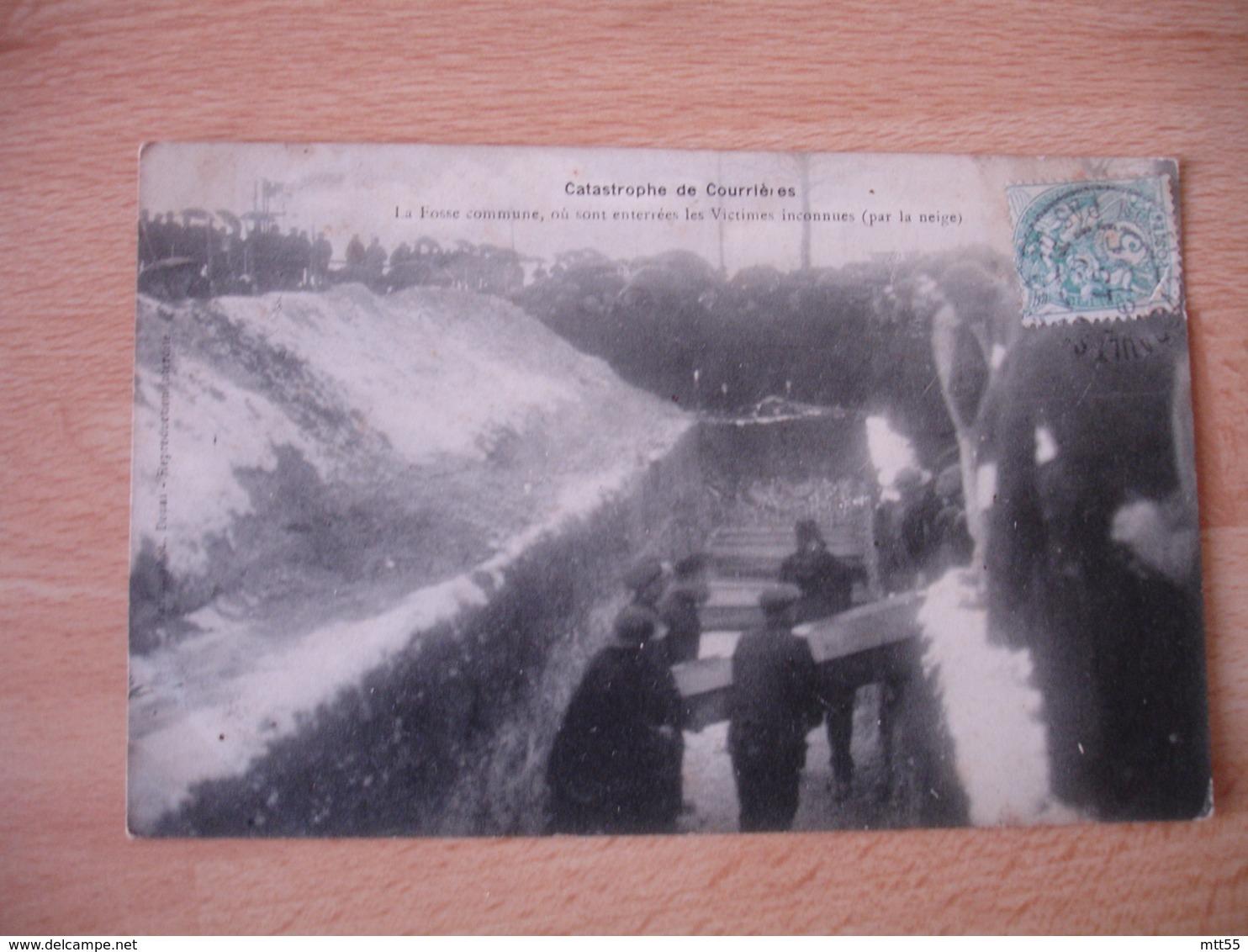 Mines Catastrophe De Courrieres  Fosse Commune  Cercueil - France