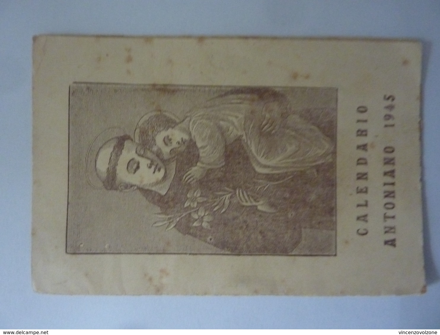 "Calendario Tascabile ""CALENDARIO ANTONIANO 1945"" - Calendriers"