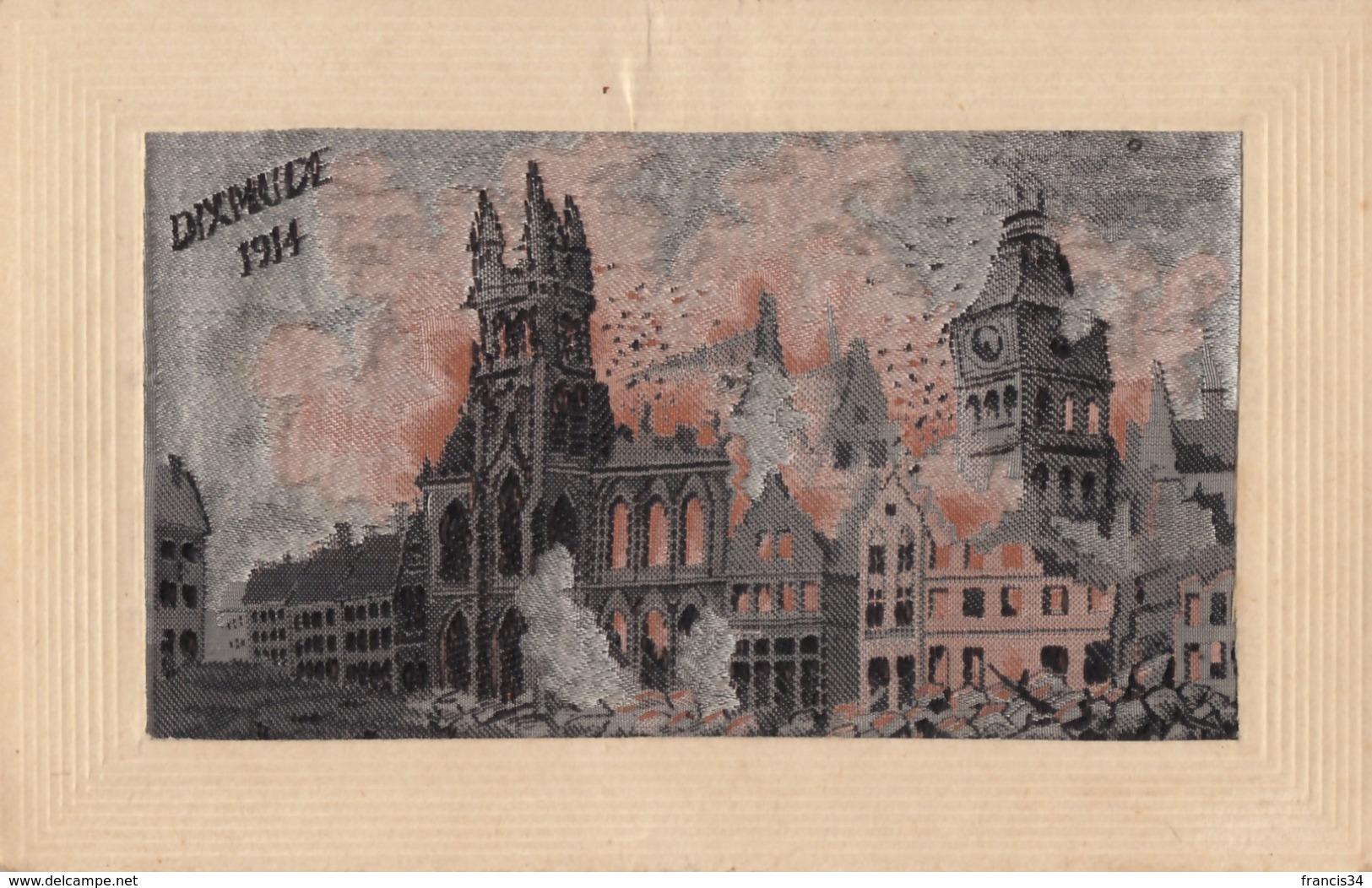 CPA - Dixmude 1914 - Carte Brodée - Diksmuide