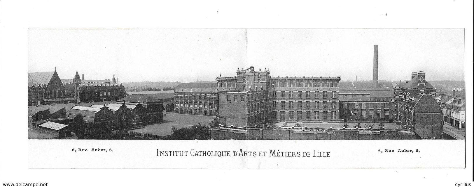 59 - LILLE - INSTITUT CATHOLIQUE D ARTS ET METIERS DE LILLE (carte Double) - Lille