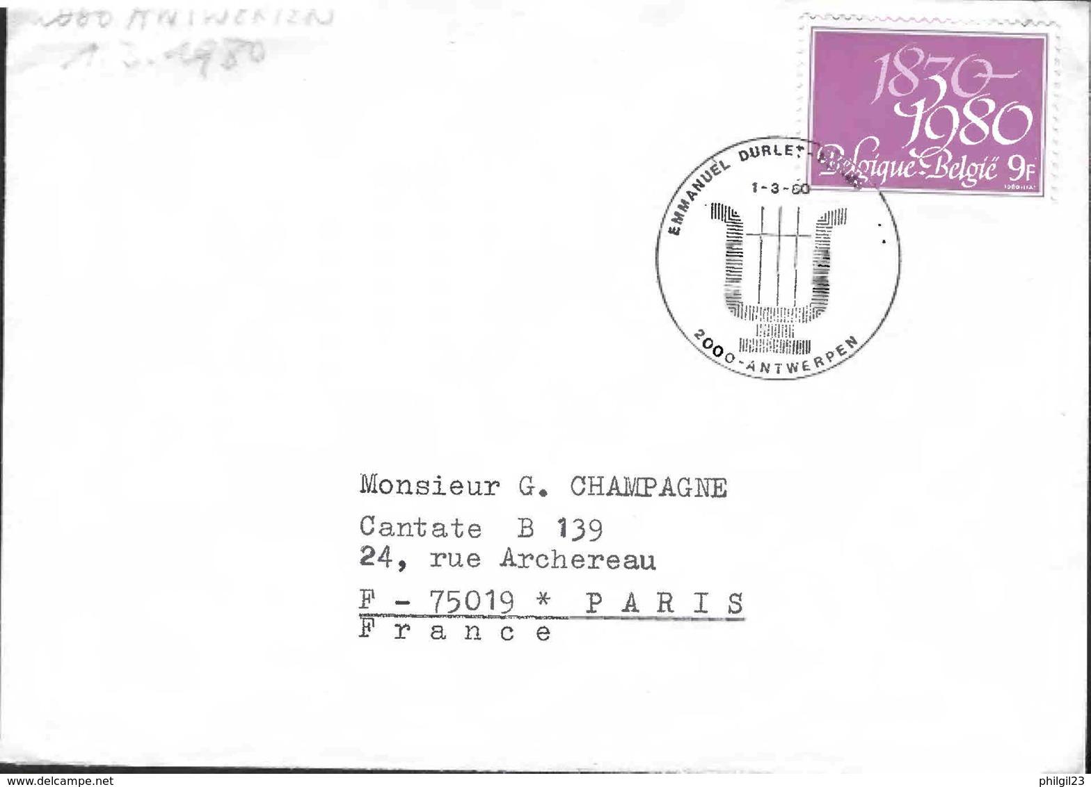 BELGIQUE -ANTWERPEN 1980 - EMMANUEL DURLET COMPOSER - Muziek