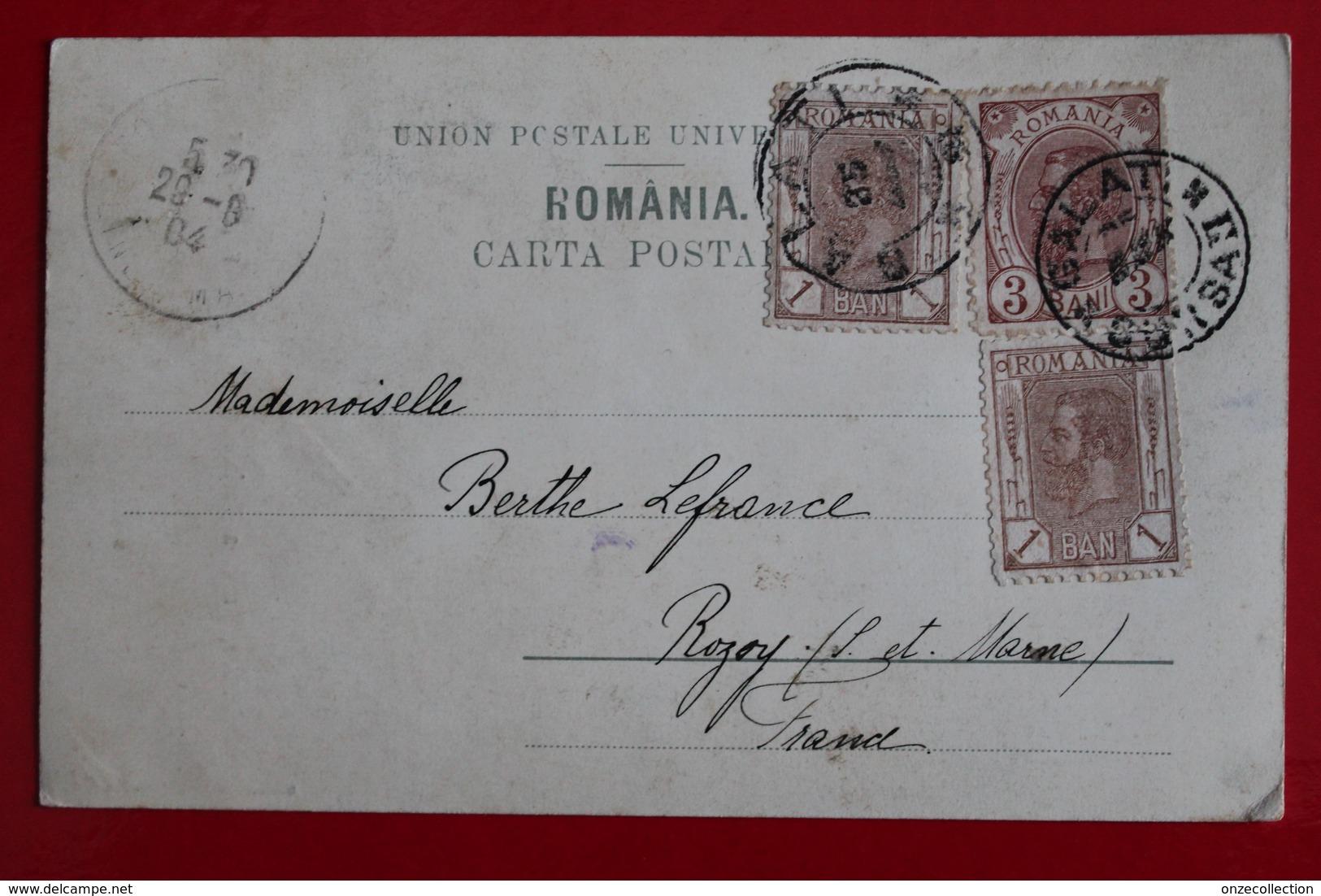 1904       CARTE  POSTALE  DE  LA  PRINCESSE  MARIA    POUR  LA  FRANCE   2  CACHETS  DIFFERENTS  DE  GALATI   2  PHOTOS - Briefe U. Dokumente