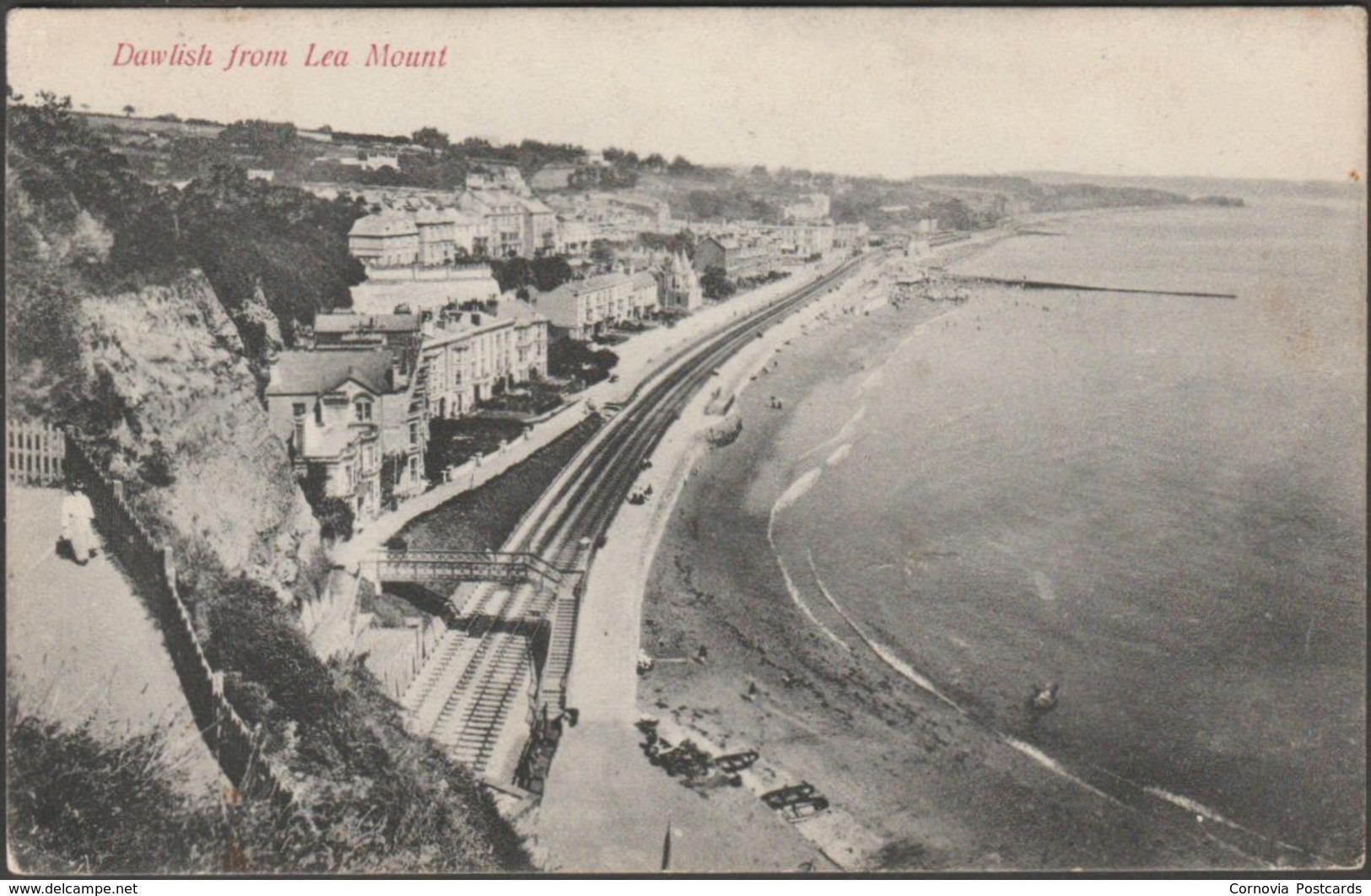 Dawlish From Lea Mount, Devon, 1907 - Chapman Postcard - England