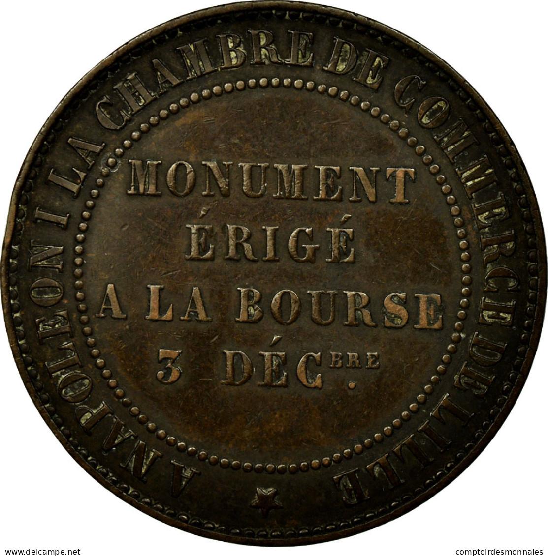 Monnaie, France, 10 Centimes, 1854, Lille, TTB+, Bronze, Gadoury:251, KM:M25 - D. 10 Centimes