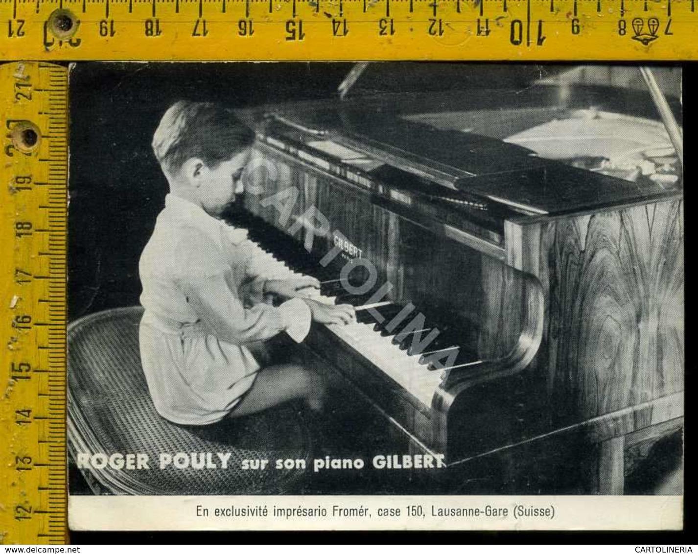 Personaggio Attore Attrice Cantante Musica Teatro Cinema Roger Pouly Svizzera - Artisti