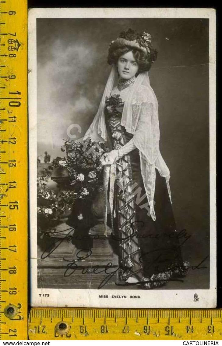 Personaggio Attore Attrice Cantante Musica Teatro Cinema Autografo MISS. Evelin Bond - Artisti