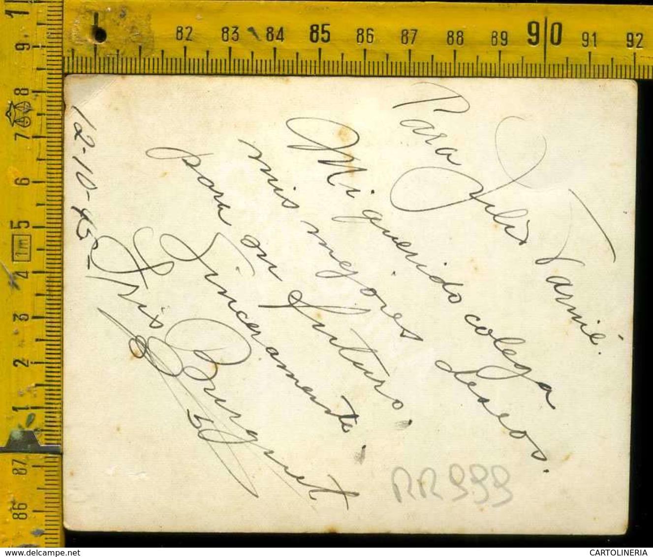 Personaggio Attore Attrice Cantante Musica Teatro Cinema Autografo Iris Burguet Cuba - Artisti