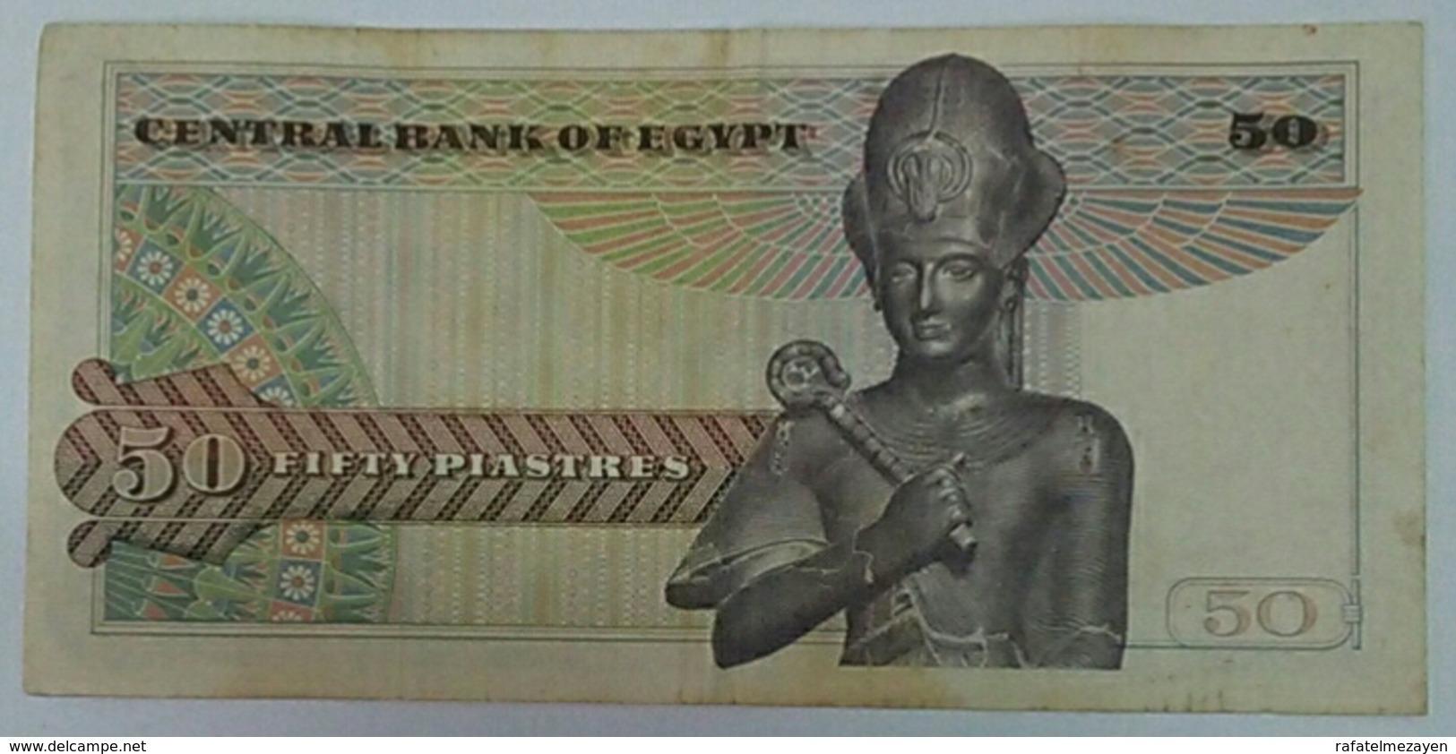 Egypt 50 Piasters 1978 Ramsis Ll - Egypte