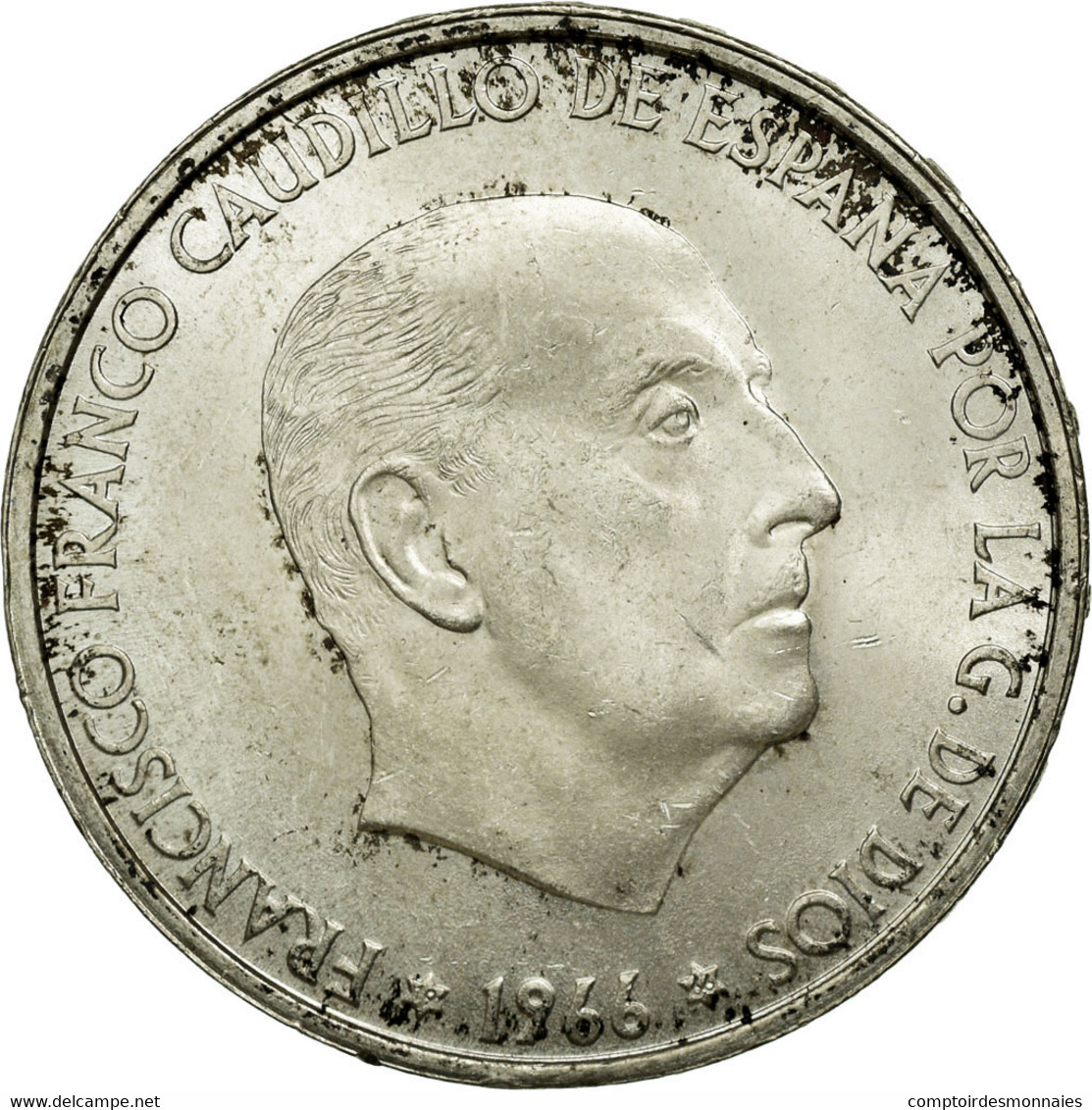 Monnaie, Espagne, Caudillo And Regent, 100 Pesetas, 1966, Madrid, TTB, Argent - [ 1] …-1931 : Royaume