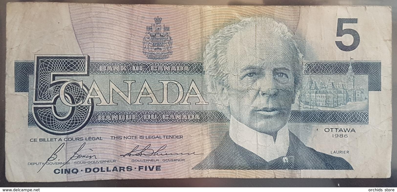 EBN6 - Canada 1986 Banknote 5 Dollars Pick 95c - Canada