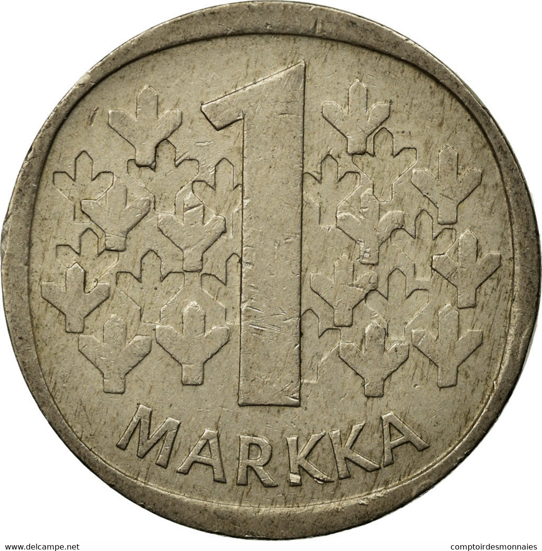 Monnaie, Finlande, Markka, 1977, TB, Copper-nickel, KM:49a - Finlande