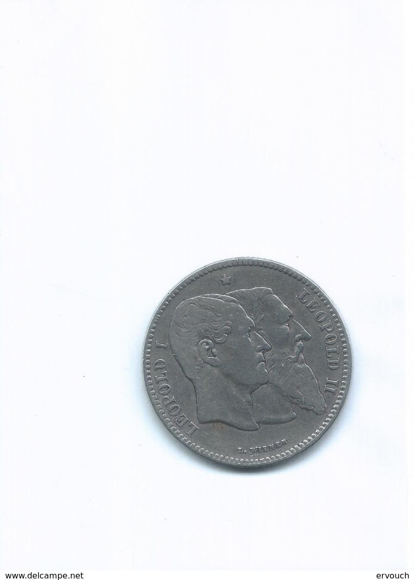 2 FRANCS  1830 1880  50ème ANNIVERSAIRE DE L INDEPENDANCE   ARGENT TTB - Belgique
