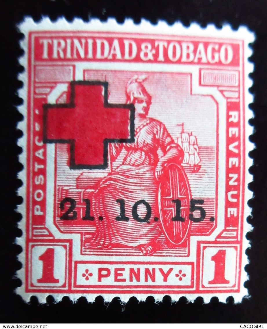 1915 Trinidad Yt 88 . Semi Postal Stamps . Britannia . Neuf Trace Charnière - Trinité & Tobago (...-1961)