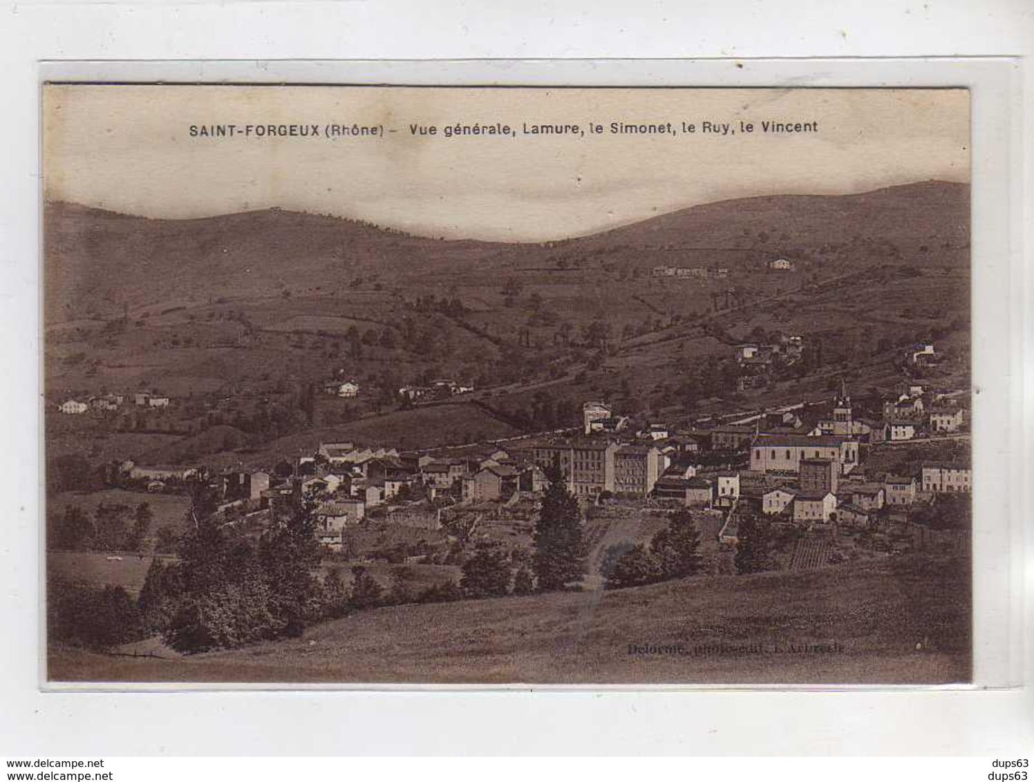 SAINT FORGEUX - Vue Générale - Lamure - Le Simonet - Le Puy - Le Vincent - Très Bon état - Autres Communes
