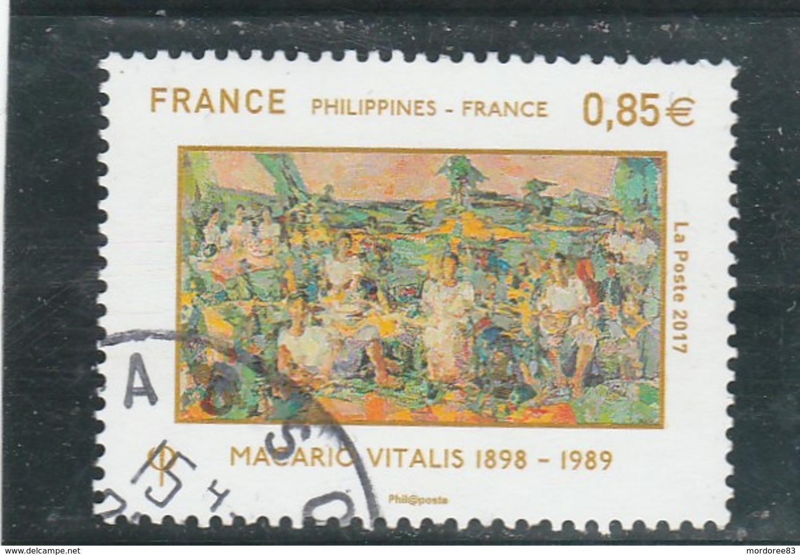 FRANCE 2017 -YT  5159   - FRANCE PHILIPPINES- OBLITERE -  (note)                          TDA245 - France