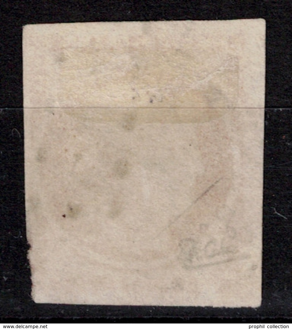 RARE VARIETE De 4 RETOUCHE Sur N° 5 40C ORANGE (COTE 7000€ - CERTIFICAT) OBL. GROS POINTS / VERSO SANS AMINCI - 1849-1850 Ceres