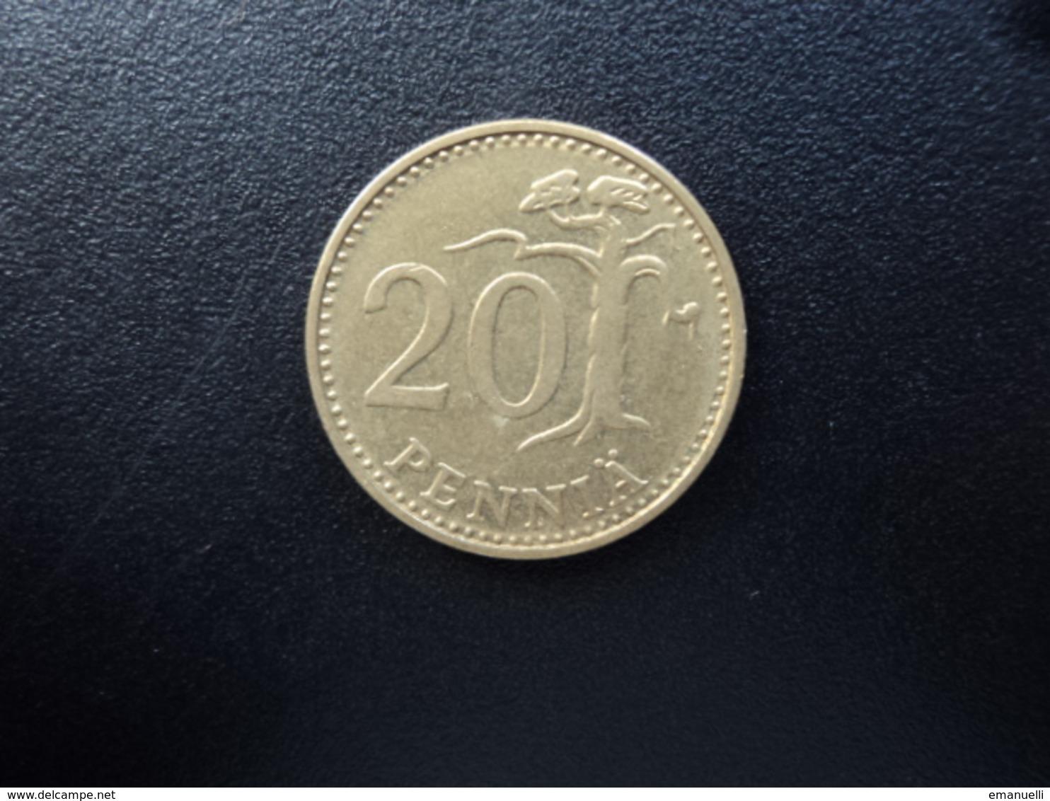 FINLANDE : 20 PENNIÄ  1976 K    KM 47     SUP - Finlande
