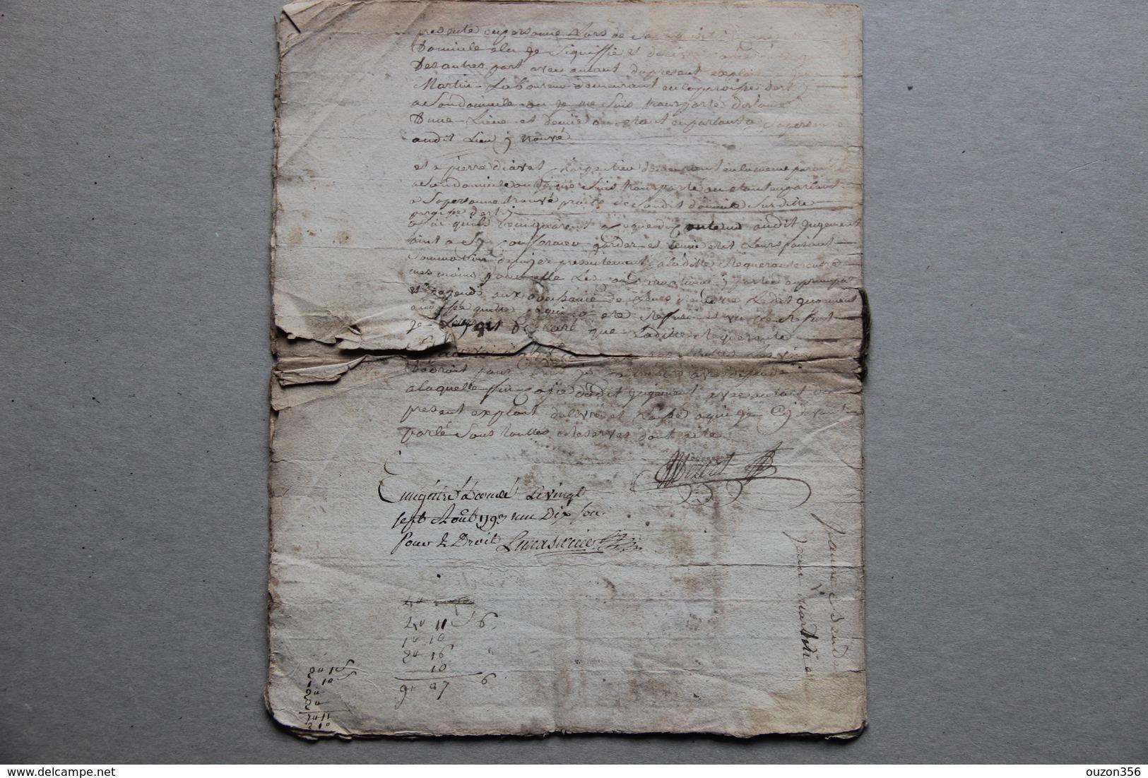 Vassy, Estry (Calvados), Jugement Pour Un Sapin Coupé, 1793 - Documentos Históricos