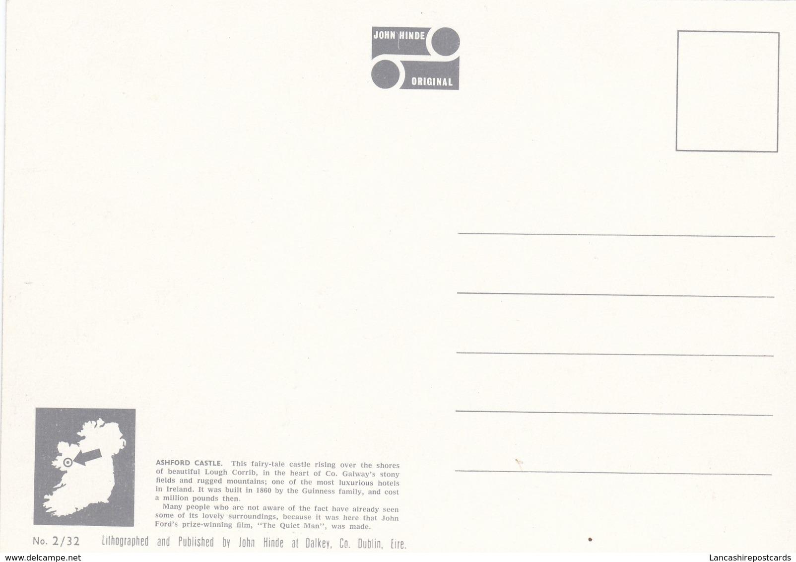 Postcard Ashford Castle Lough Corrib Cong County Mayo Ireland [ John Hinde ] My Ref  B23305 - Mayo