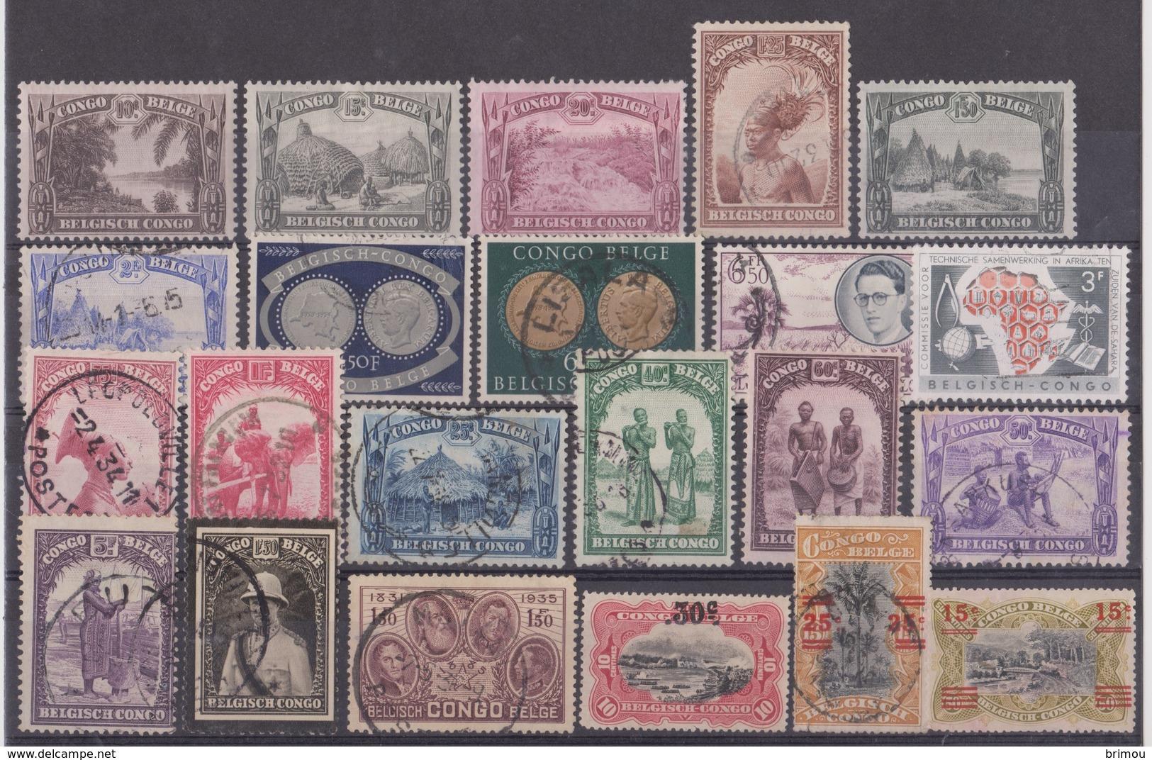 Congo Belge, Timbres Oblitérés. - 1947-60: Gebraucht