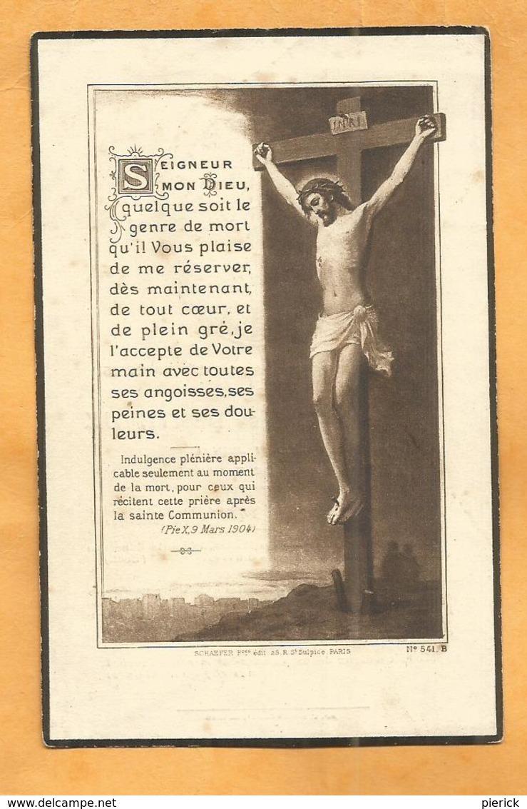 IMAGE GENEALOGIE FAIRE PART AVIS DECES CARTE MORTUAIRE BERTHEUX 1865 1939 - Décès