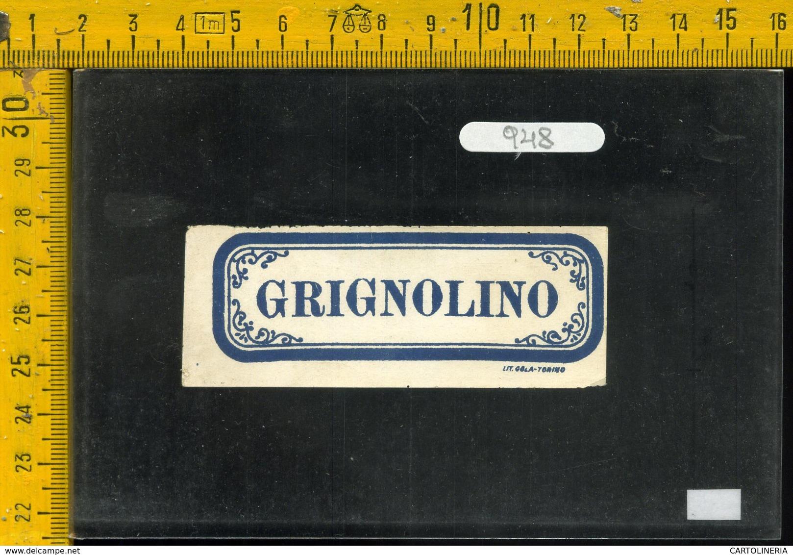 Etichetta Vino Liquore Grignolino - Altri