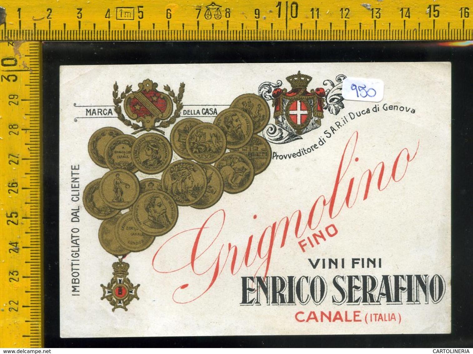Etichetta Vino Liquore Grignolino Serafino Canale - Etichette