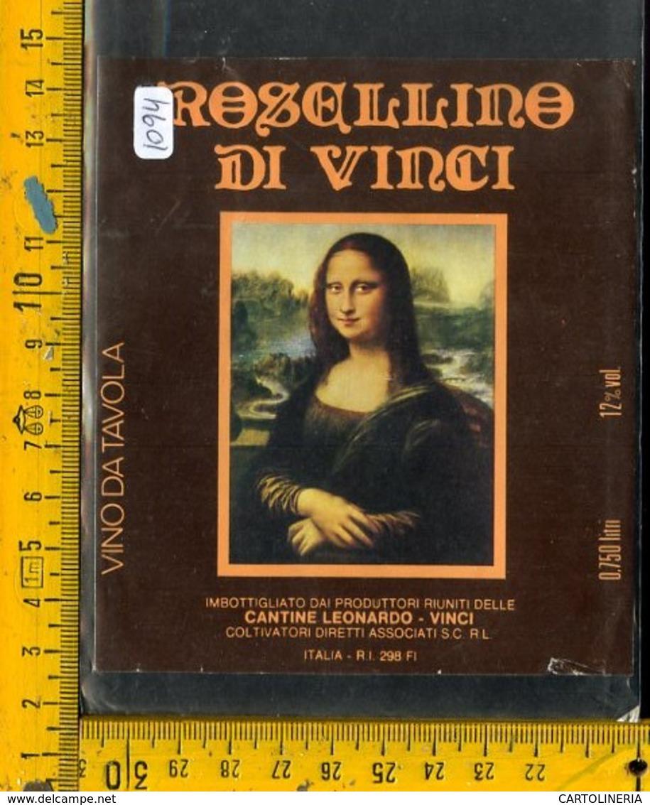 Etichetta Vino Liquore Rosellino Di Vinci - Etiquetas