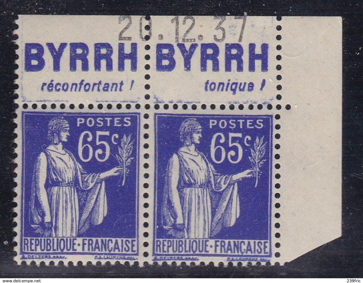 PUBLICITE: TYPE PAIX 65C BLEU PAIRE BYRRH-réconfortant Tonique NEUF* ACCP986-987 C16E - Advertising