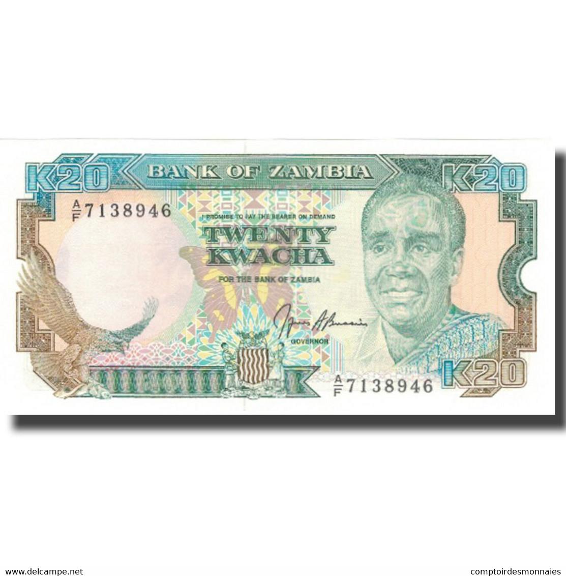Billet, Zambie, 20 Kwacha, Undated (1989-91), KM:32b, NEUF - Zambie