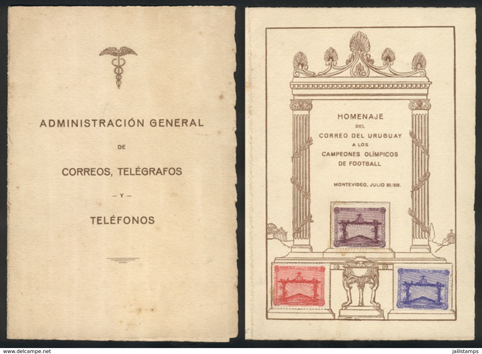 TOPIC FOOTBALL/SOCCER: Sc.388/390, 1928 Olympic Football Winners In The Olympic Games Of 1924 And 1928, Cmpl. Set Of 3 V - Football