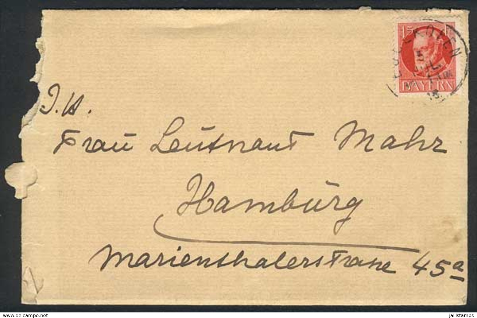 GERMANY: 9 Covers Used Between 1918 And 1939, 2 From Bavaria (with Its Original Content) And 3 Official, Fine To VF Qual - Allemagne