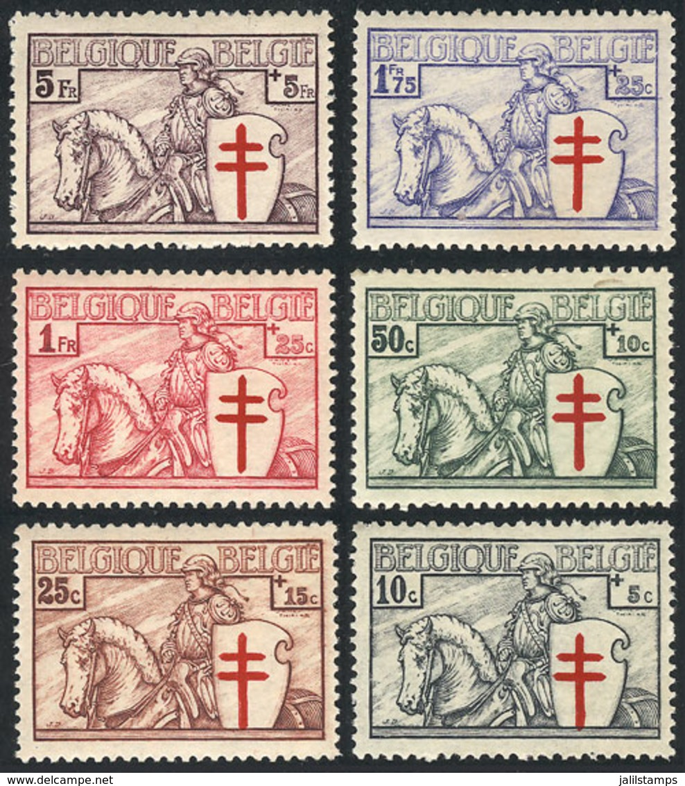 BELGIUM: Sc.B152/162 (without B159, Value Of Little Importance), 1934 Red Cross, Crusader, 6 Values Of The Set Of 7, Min - Belgique