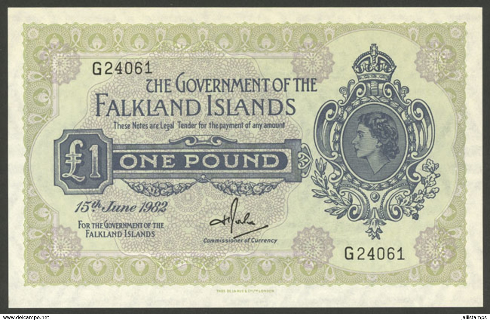 FALKLAND ISLANDS/MALVINAS: Banknote Of 1 Pound Of The Year 1982, Mint Unused, Excellent Quality! - Falkland