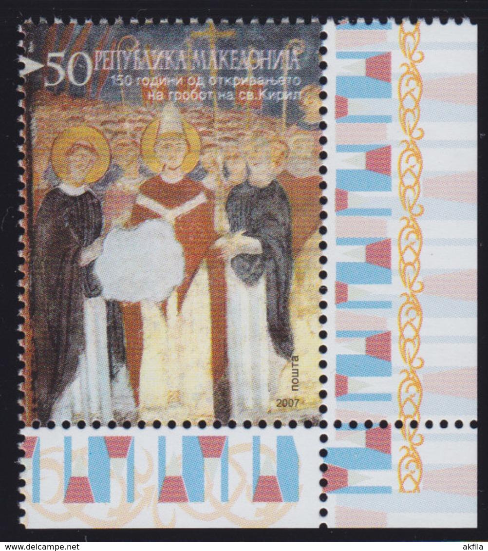 Macedonia 2007 150th Anniversary Of The Canonization Of Saint Cyril, MNH (**) Michel 433 - Mazedonien