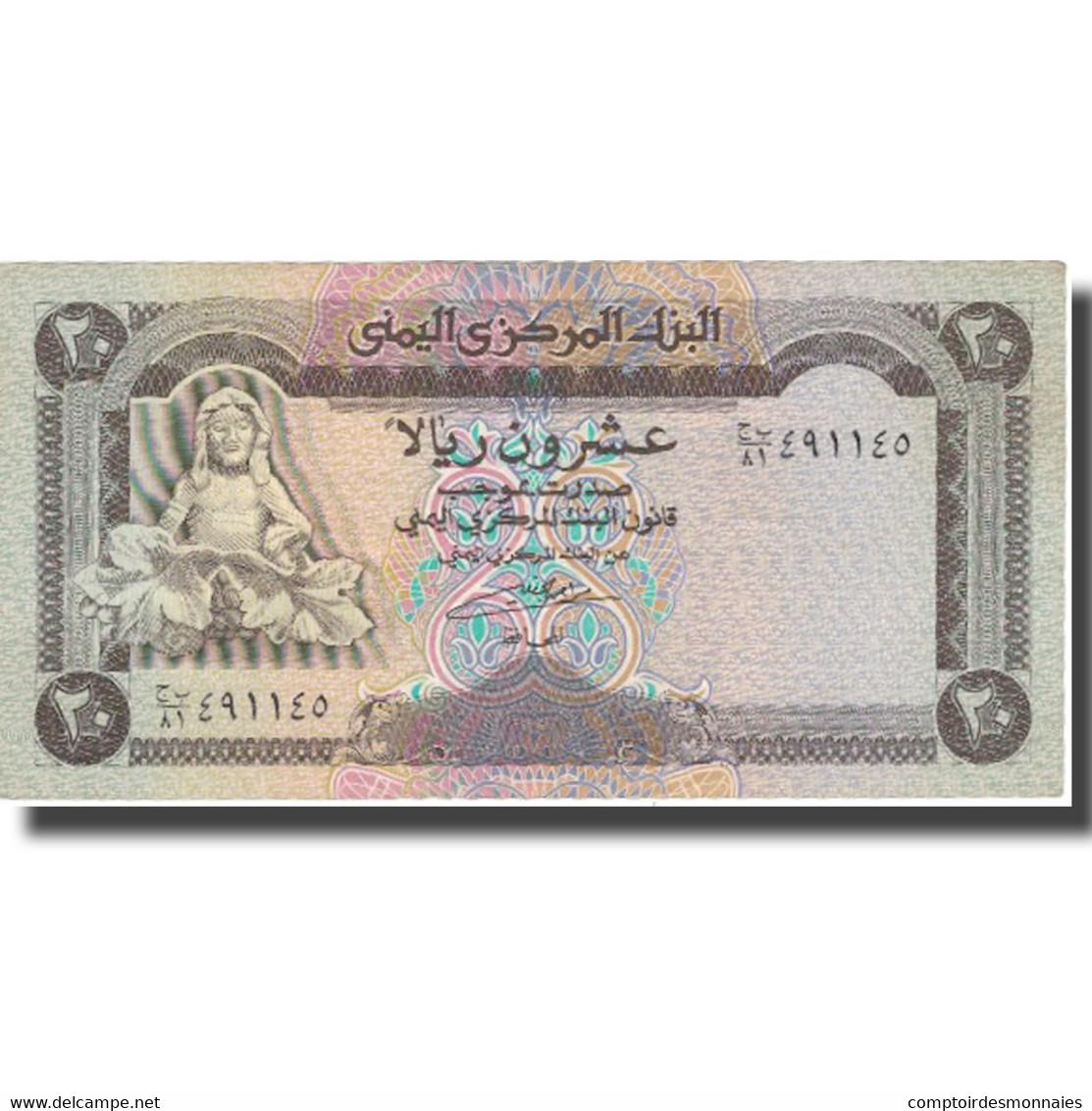 Billet, Yemen Arab Republic, 20 Rials, Undated (1990), KM:26a, TTB+ - Yémen