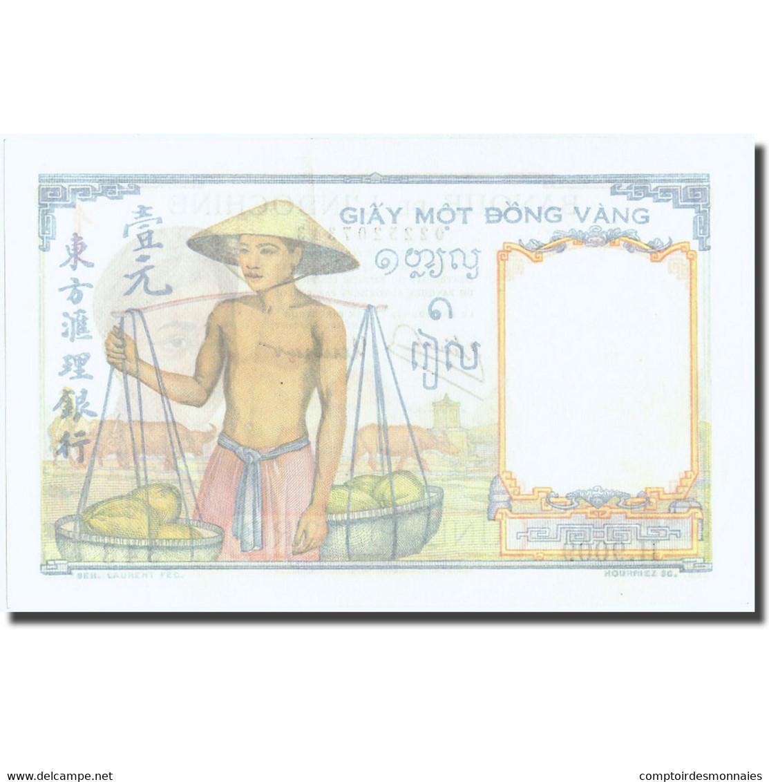 Billet, FRENCH INDO-CHINA, 1 Piastre, Undated (1946), KM:54c, SPL+ - Indochine