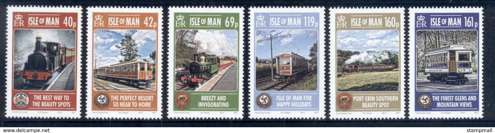 Isle Of Man 2013 IOM Railways, Trains MUH - Isola Di Man