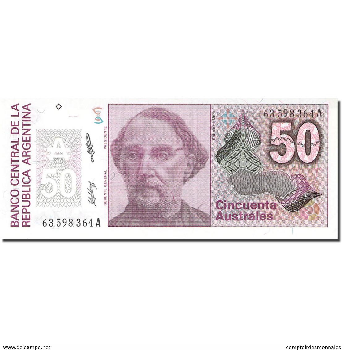 Billet, Argentine, 50 Australes, KM:326a, NEUF - Argentine