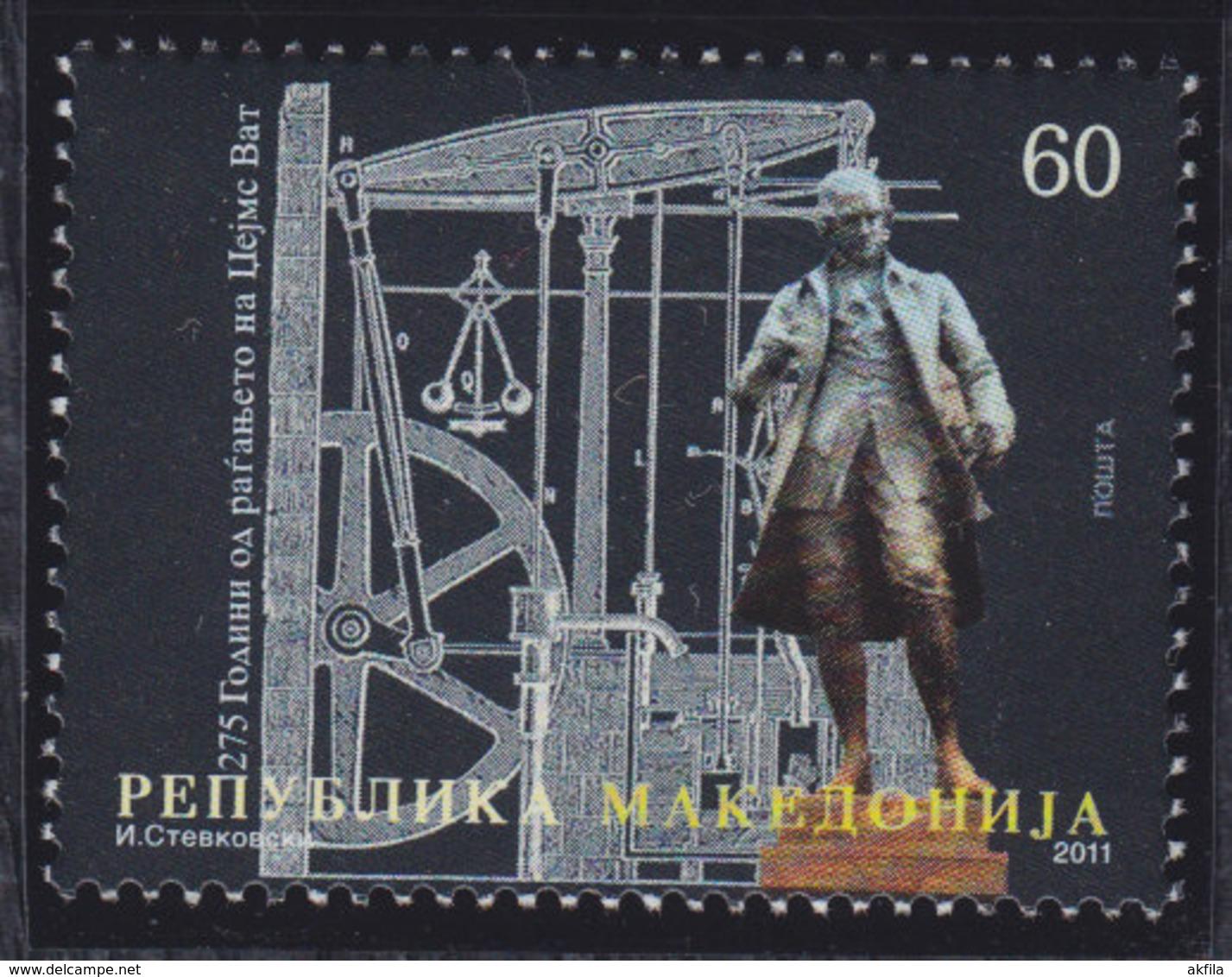 Macedonia 2011 Inventor James Watt, MNH (**) Michel 590 - Macédoine
