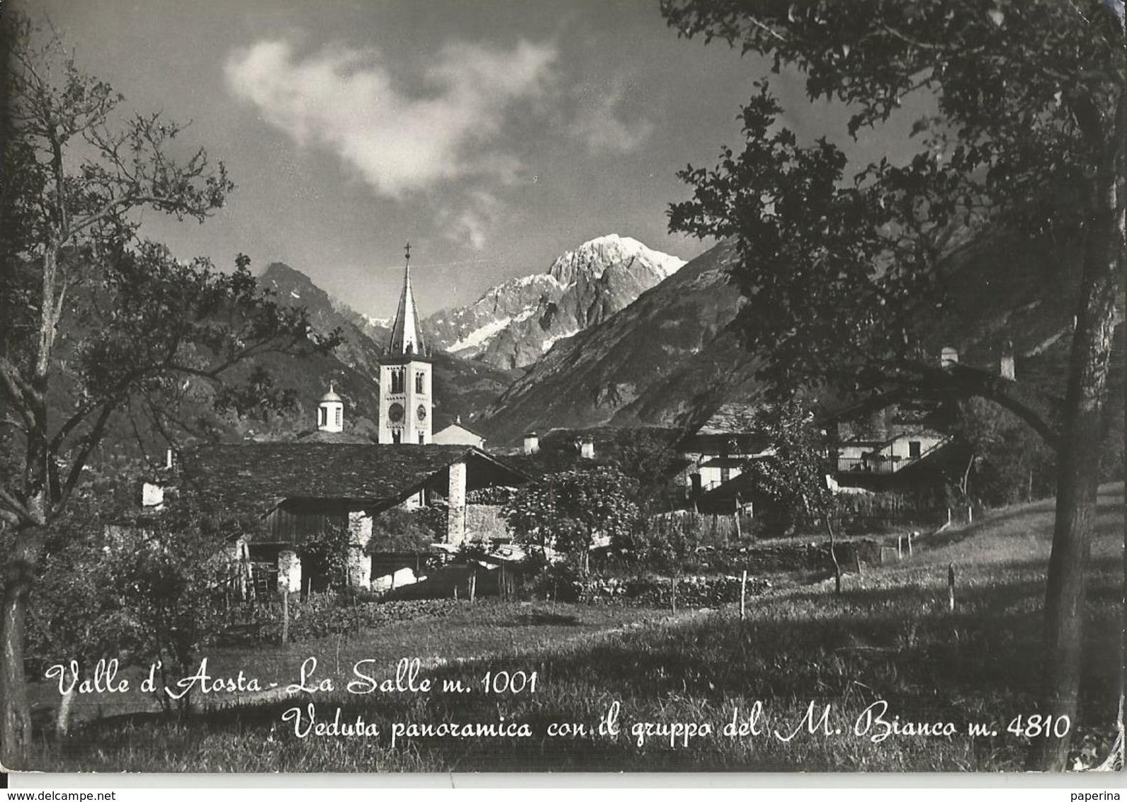 LA SALLE VEDUTA PANORAMICA CON IL GRUPPO DEL MONTE BIANCO  (175) - Italia