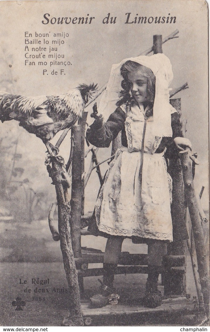 Souvenir Du Limousin - Le Régal De Deux Amis - Folklore Costumes Traditionnels - CAD Néris (03) & Delle (90) - Limousin