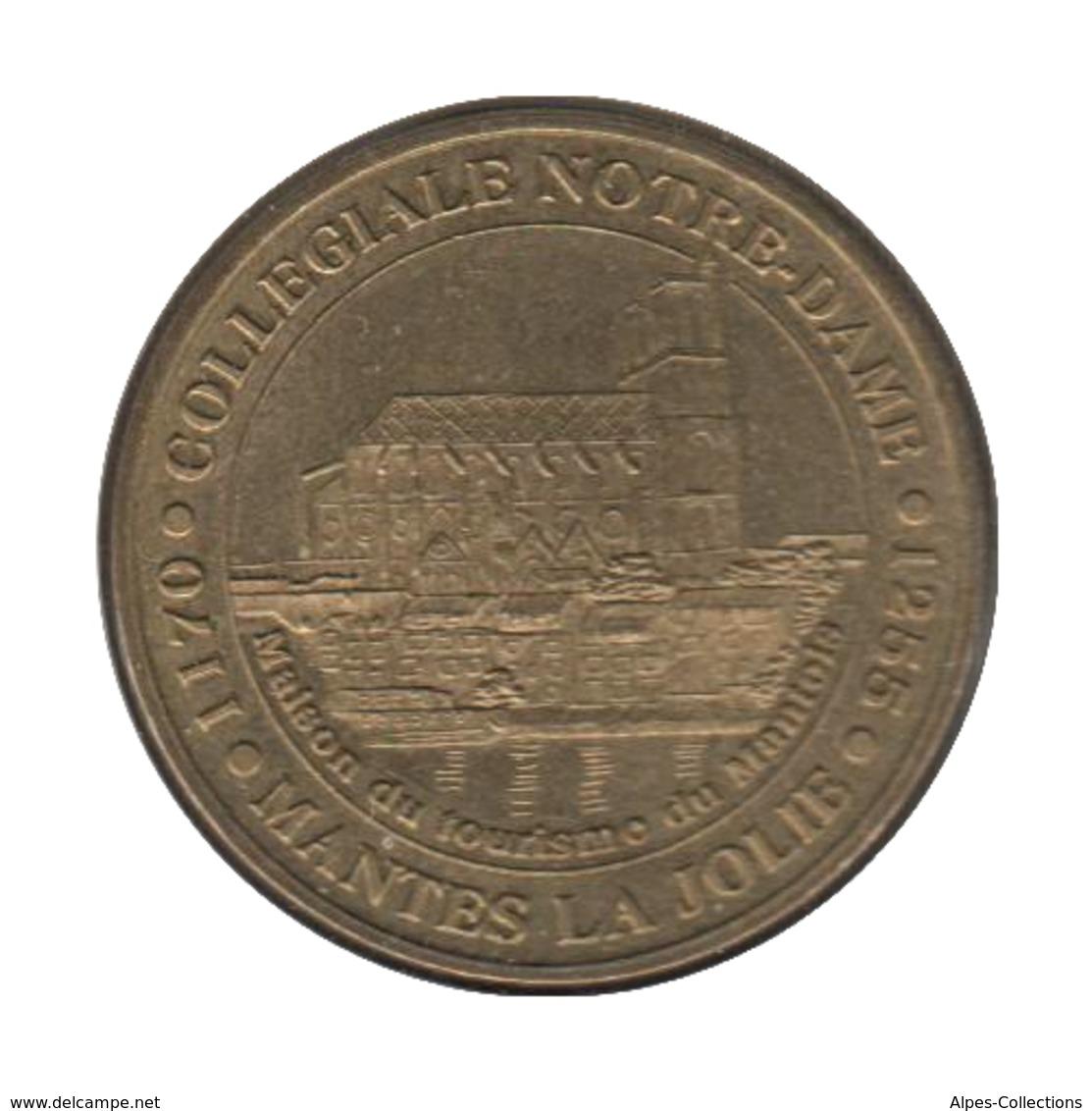 0270 - MEDAILLE TOURISTIQUE MONNAIE DE PARIS 78 - Collégiale Notre Dame - 2004 - Monnaie De Paris
