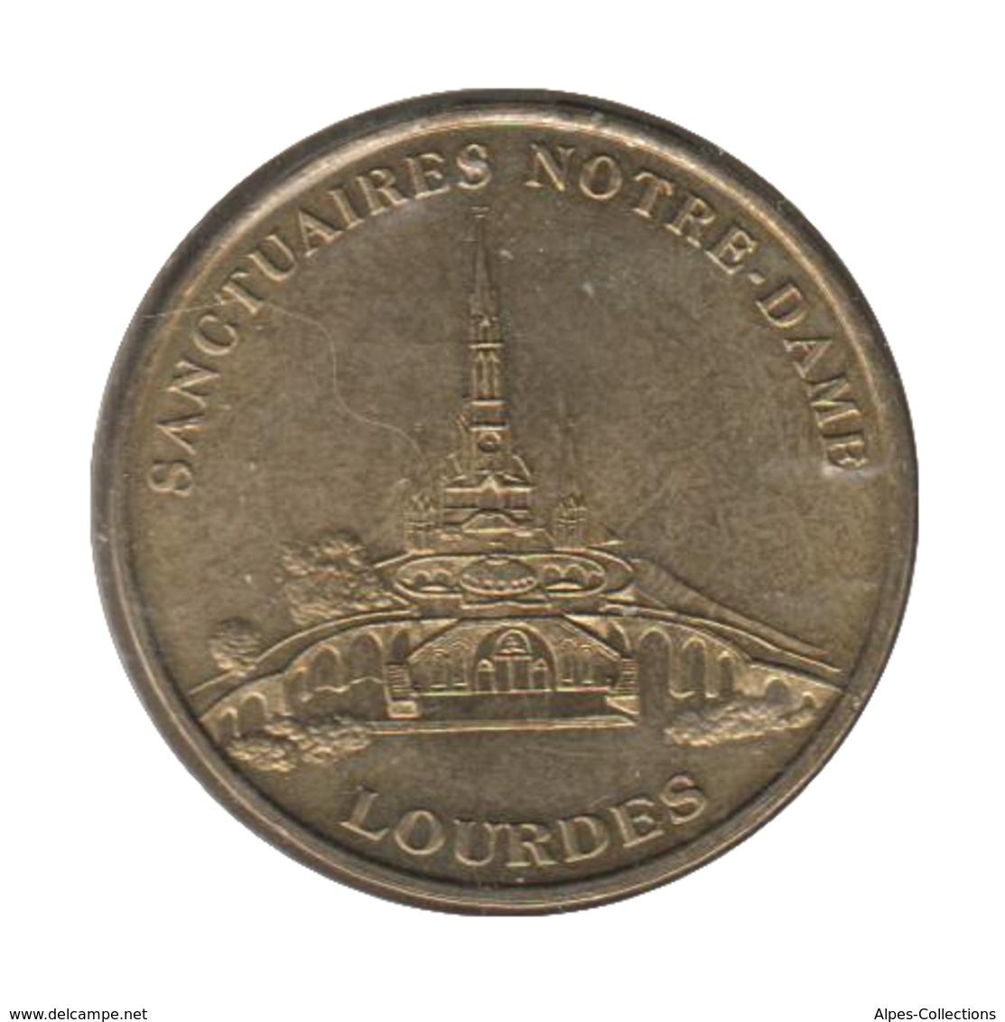 0215 - MEDAILLE TOURISTIQUE MONNAIE DE PARIS 65 - Sanctuaire Notre Dame Lourdes - Monnaie De Paris