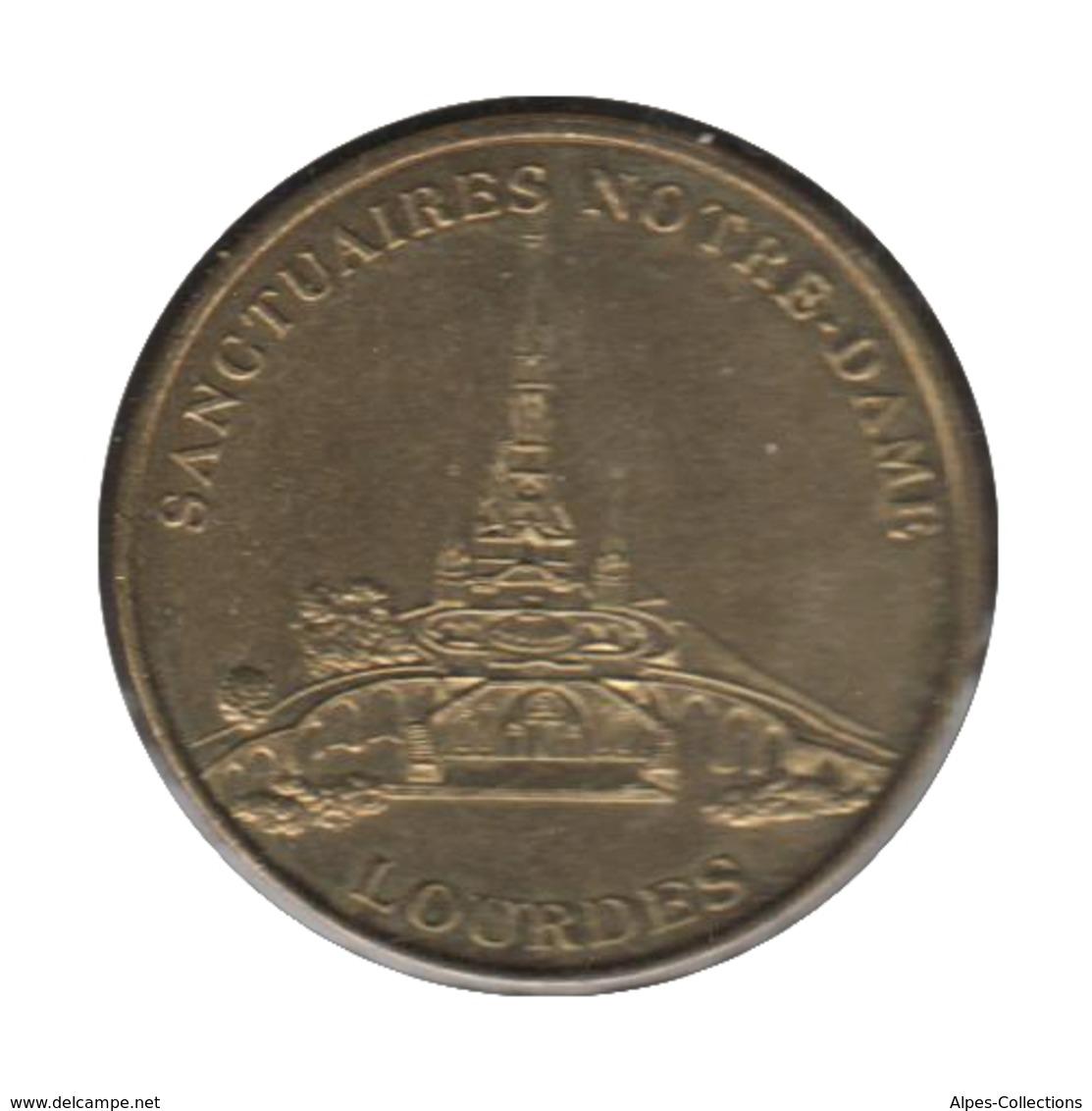 0216 - MEDAILLE TOURISTIQUE MONNAIE DE PARIS 65 - Sanctuaire Notre Dame Lourdes - Monnaie De Paris
