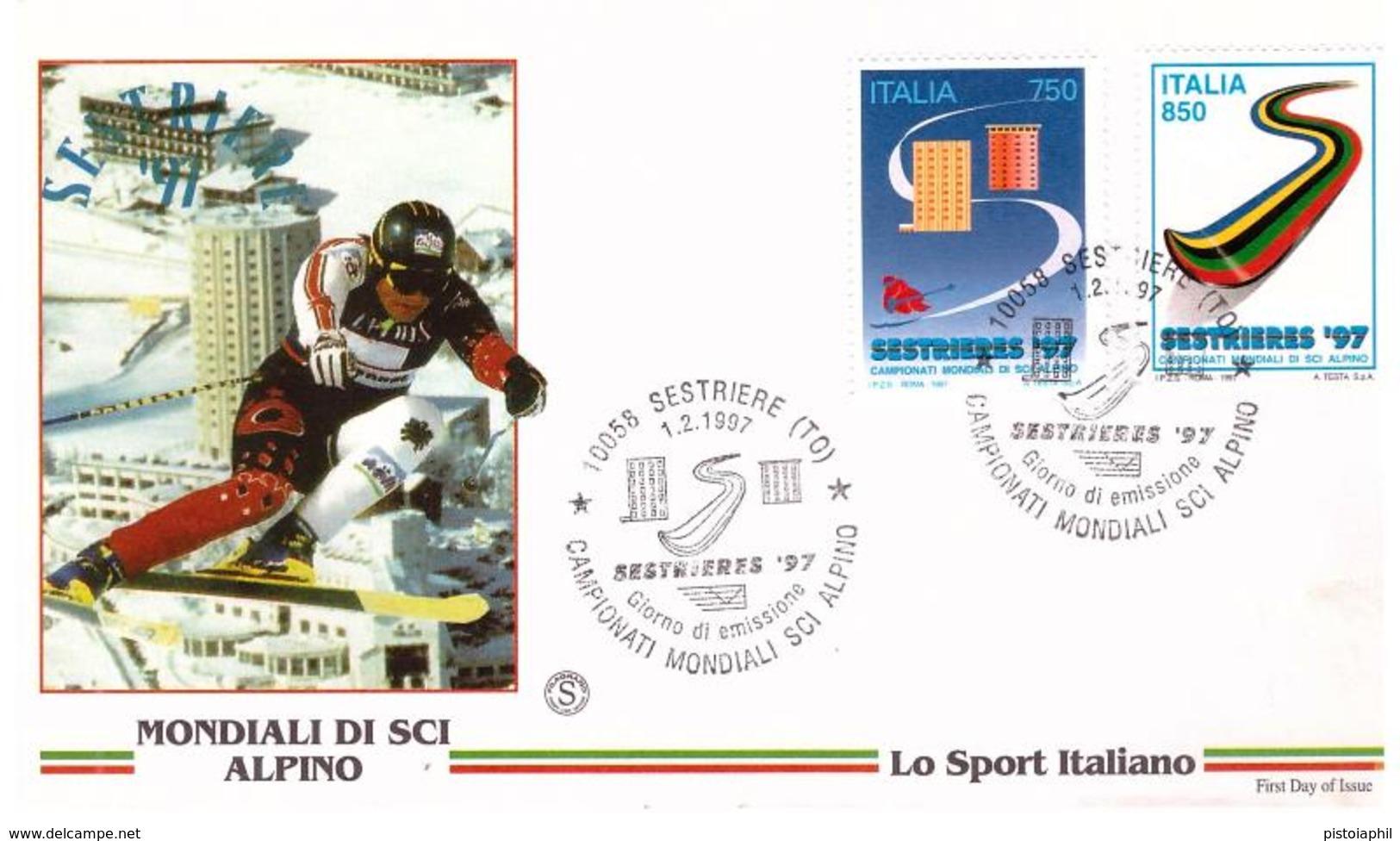 Fdc Filagrano: MONDIALI SCI ALPINO 1997 ; No Viaggiata - F.D.C.