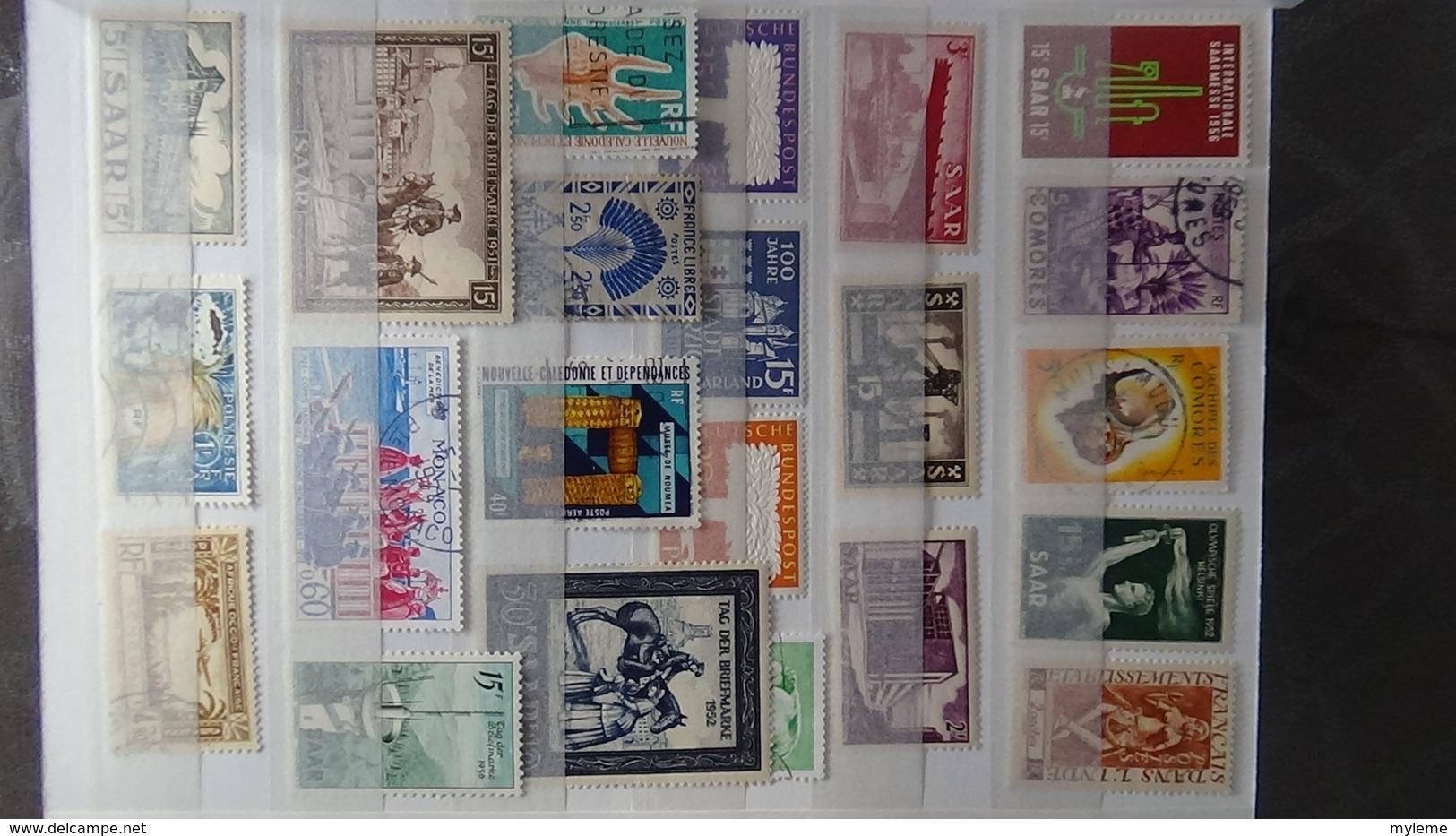 Colonies Françaises Tous états Avec Bonnes Valeurs ** Dont SARRE ** , ND AEF ** , ND Nouvelle Calédonie ** !!! - Stamps